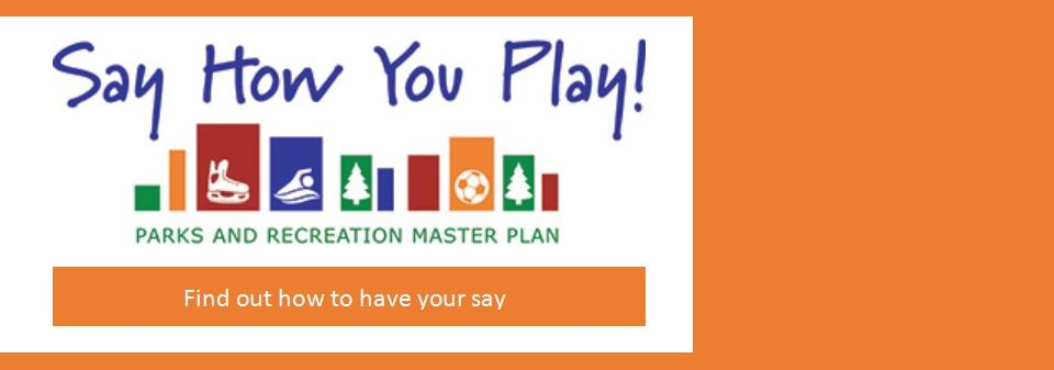 Say How You Play banner for the Recreation Master Plan