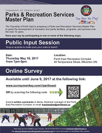 Recreation Master Plan poster and link to PDF format of poster