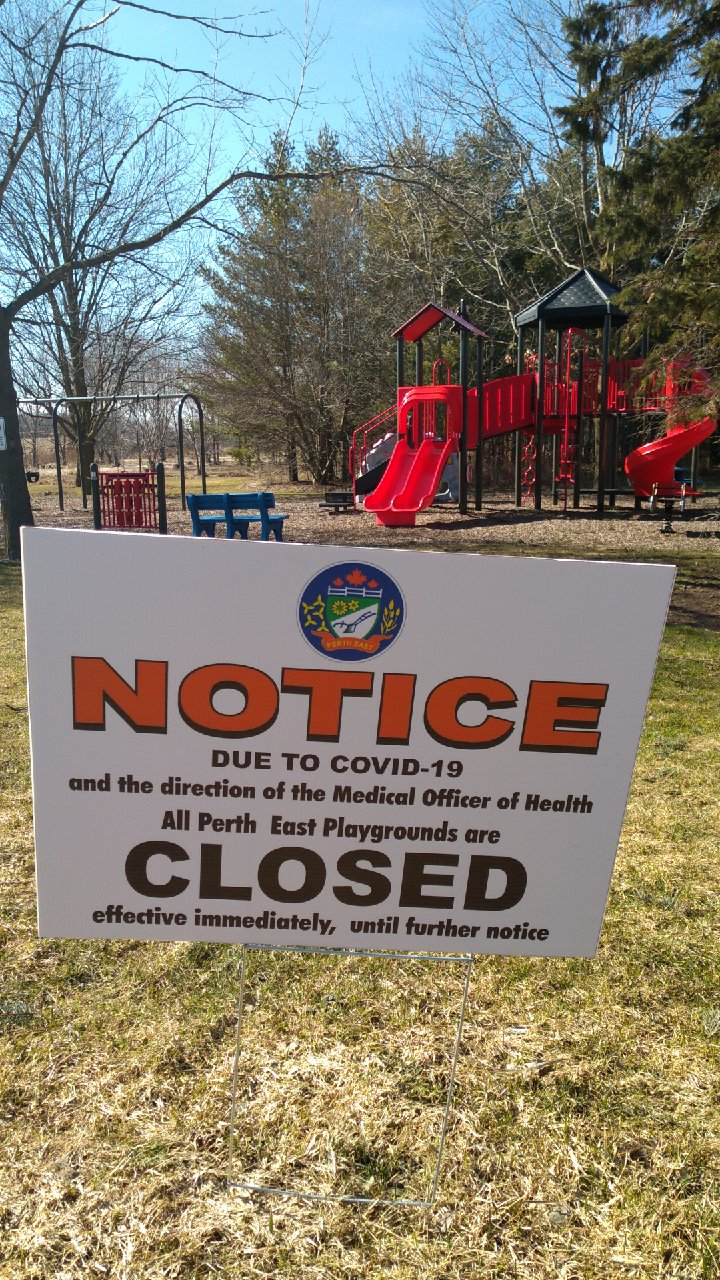 Notice Perth East Parks Closed