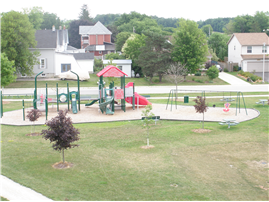 Playground equipment at the PERC Park